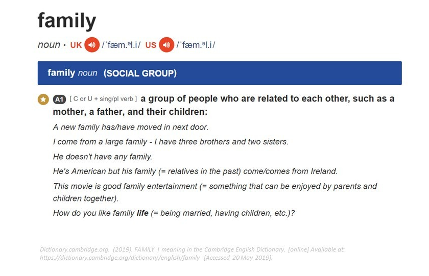 Family' – Why we need a better definition
